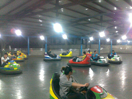 Grand construction of indoor bumper cars