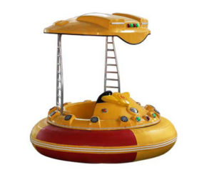 Laser bumper boats with battery powered