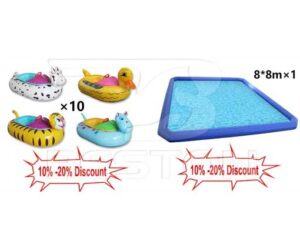 Promotion Inflatable Pool and Bumper Boat